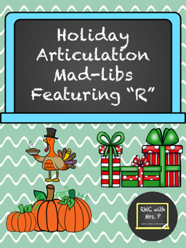 holiday articulation mad libs featuring r halloween thanksgiving christmas - Halloween Thanksgiving Christmas