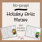 Holiday Articulation Mazes