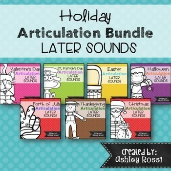 Holiday Articulation Bundle for Speech Therapy