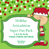 Christmas Holiday Articulation Super Kit!  S, R, L, TH, SH, CH and Blends