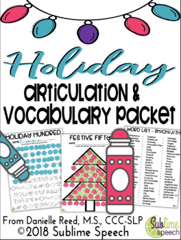 Holiday Articulation and Vocabulary