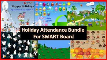 Holiday Attendance Bundle for SMART Board