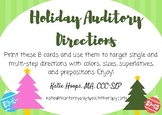 Holiday Auditory Directions Cards