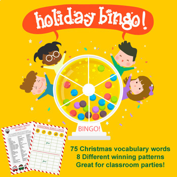 FREE Christmas BINGO - Perfect for Holiday Party Games!