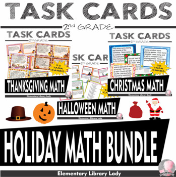Holiday BUNDLE Halloween Thanksgiving Christmas 2nd Word Problems - CC 2.OA.A.1