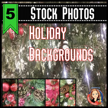 Holiday Backgrounds Stock Photos of Holly Ornaments and Trees
