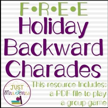 Holiday Backward Charades