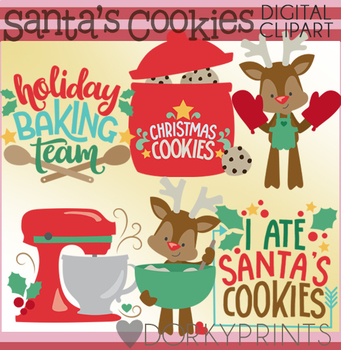 Baking Christmas Cookies Clipart.Holiday Baking Clipart