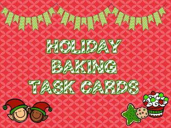 Holiday Baking Task Cards