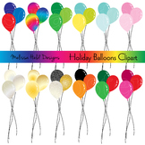 Holiday Balloons Clipart