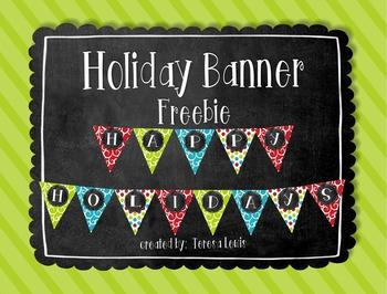 Holiday Banner Freebie