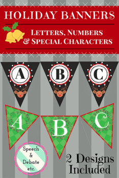 Holiday Banner Letters & Numbers