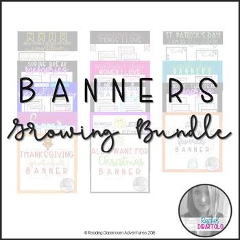 Holiday Banners {GROWING} Bundle