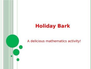 Holiday Bark: Fraction Treat