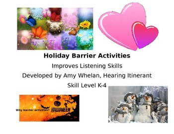 Listening Activity:  Holiday Barrier Activities