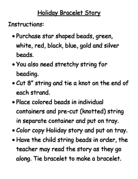 Holiday Bead Story