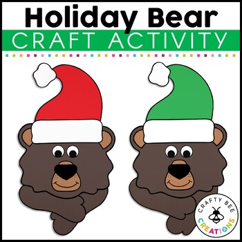 Holiday Bear Cut and Paste