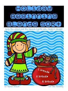 Holiday Beginning Blends {S blends, R blends, L blends}