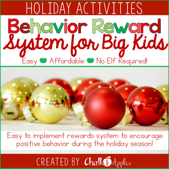 Holiday Behavior Rewards - Classroom Management Solution