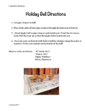 Holiday Bell Directions