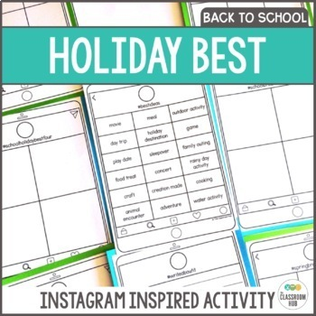 Back to School Instagram Inspired Drawing and Writing Activity