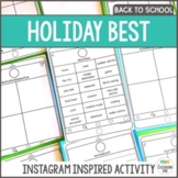 Holiday Reflection - Back to School Activity
