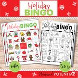 Christmas Bingo Cards   Color or B&W   Christmas Bingo Cla