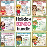 Holiday Bingo BUNDLE - St Patricks Day Bingo Game