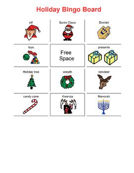 Holiday Bingo Board
