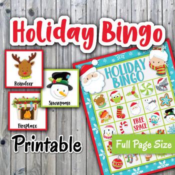 holiday bingo cards and memory game christmas bingo printable 30 cards