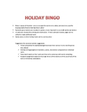 Holiday Bingo Game for Elementary Classrooms and Children'