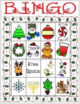Holiday Bingo Set 1