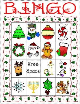 Holiday Bingo Set 2