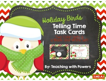 Holiday Telling Time Task Cards