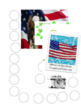 Holiday Blank Dauber Worksheets and Behavior Charts
