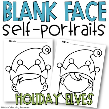Holiday Blank Face Self-Portraits