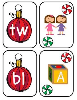 Holiday Blends Literacy Center FREEBIE