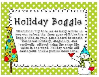 Holiday Boggle