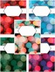 Holiday Bokeh Binder Covers - 5 Editable Covers