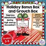 Holiday Behavior Program - Holiday Bonus Box and Grouch Box - Improve Behavior!