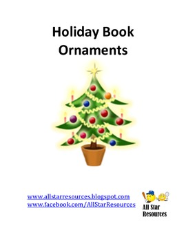 Holiday Book Ornaments for Christmas