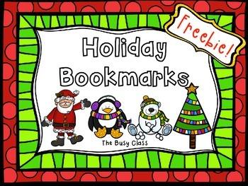 Winter Bookmarks Freebie!
