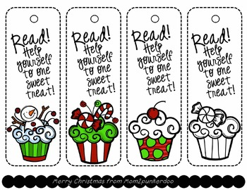Free Holiday Bookmarks and Gift Tags