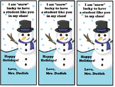 Winter Holiday Bookmarks - Personalize With Your Name!