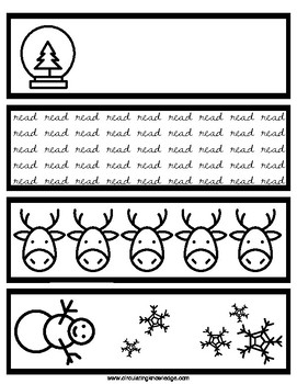 Holiday Bookmarks for your Library or Classroom - Read to be colored!