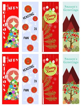 Holiday Bookmarks/gift tags