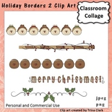 Holiday Borders 2 Clip Art - color - personal & commercial use