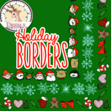Holiday Borders!!! (Deerly Clipart)