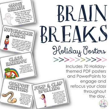 Holiday Brain Breaks for the Classroom {Posters & PPT}