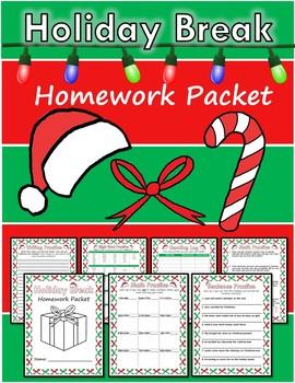 Holiday Break Homework Packet